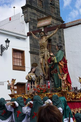 Procession with statues of Jesus, Mary Magdelene and St John, Santa Cruz de la Palma