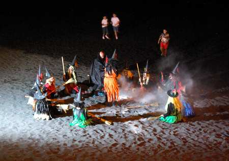 Witches dancing on the beach on St John's feast, at Puerto Naos, Los Llanos, La Palma _Island