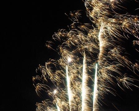 New Year firework display in Santa Cruz de la Palma