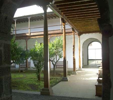 The courtyard of orange trees, Island Museum, Santa Cruz de la Palma