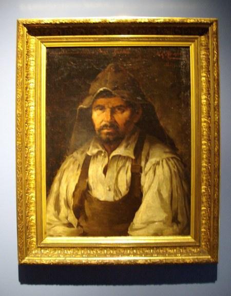 Garafian peasant, oil on canvas, by Manuel González Méndez, exhibited in Santa Cruz de la Palma