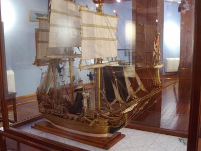 Model ship in the naval museum, Santa Cruz de la Palma