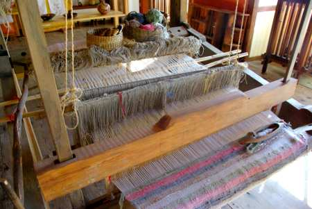 Traditional rug weaving, La Palma island