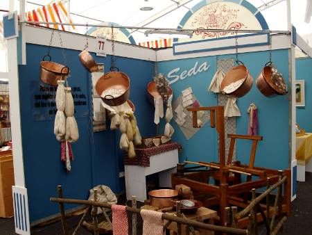 Silk exhibition at La Palma's craft fair, 2010