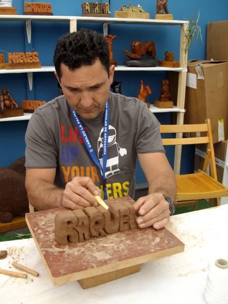 Clay sculptures  at the craft fair in Santa Cruz de la Palma