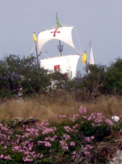 Ship on dry land, Naval battle of Lepanto, Barlovento, La Palma
