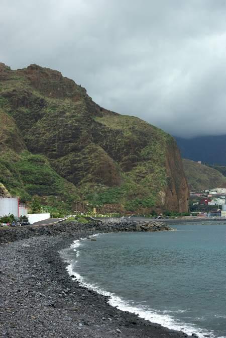 Concepcion cliff and Bajamar beach, Breña Alta, La Palma Island