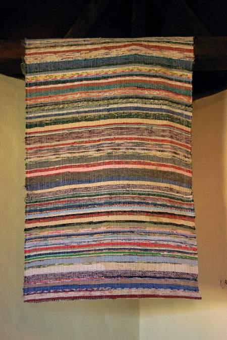 A Canarian-style rag rug on sale in San Jose de Breña Baja, La Palma