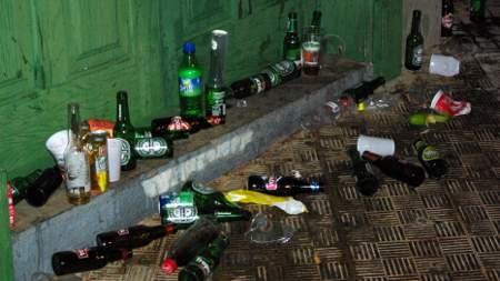 Puntagorda fiesta: the debris