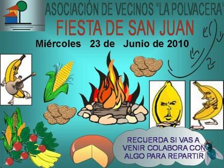 Poster for St John's Bonfire in La Palvacera, Breña Baja, La Palma island