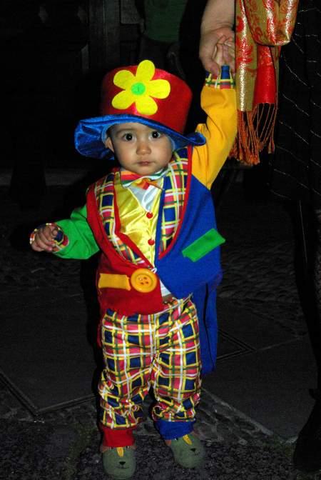 Santa Cruz de la Palma, Carnival 2010, little boy dressed as a clown