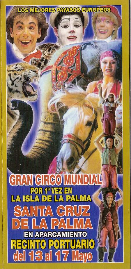 Circus Poster for Santa Cruz de la Palma