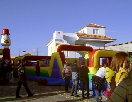 Bouncy Castles at Puntagorda for the Almond Blossom fiesta