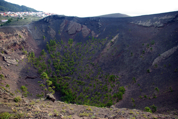 Crater of St Antony's Volcano, Fuencaliente, La Palma, Canary Islands