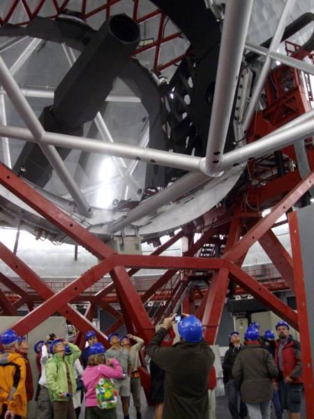 Inside Grantecan, the big Canarian telescope, Roque de los Muchachos observatory