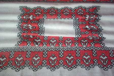 Assisi embroidery in the embroidery museum, Mazo, La Palma
