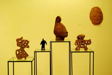Statues inspired by Prehispanic art, Ethnographic Museum, Los Llanos de Aridane
