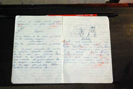 School notebook, Casa Lujan, Puntallana, La Palma