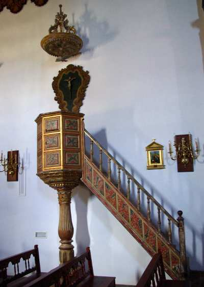 The pulpit in the church of San Juan, Puntallana