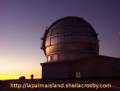 Grantecan, the biggest optical telescope in the world, at sunset