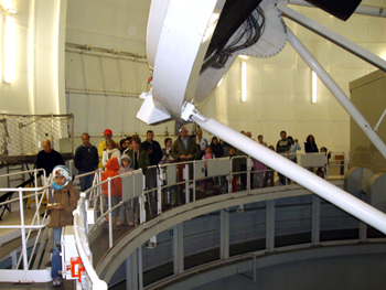 Inside the William Herschel Telescope