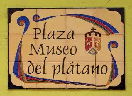 Banana Museum sign, Tazacorte
